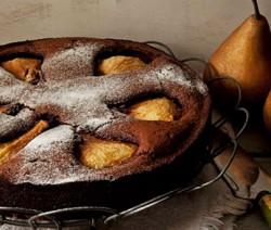 torta al cioccolato con pera spinella