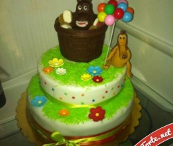 Torta decorata happy hippo
