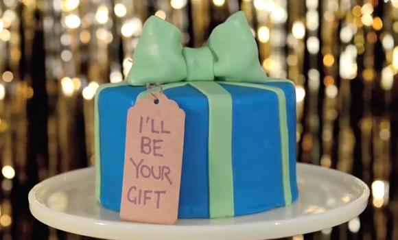 Torta di compleanno decorata: Pacco Regalo