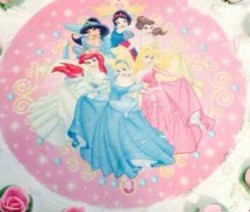 Torta di compleanno principesse Disney