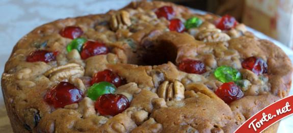 Torta con frutta secca e canditi