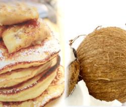 pancake ricotta cocco banana