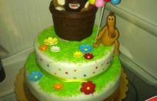 Torta decorata happy hippo
